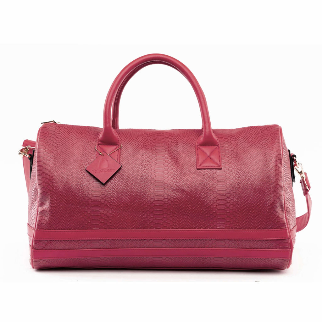 Burgundy Apollo Duffle - Reg - Weekend Bag Tote&Carry