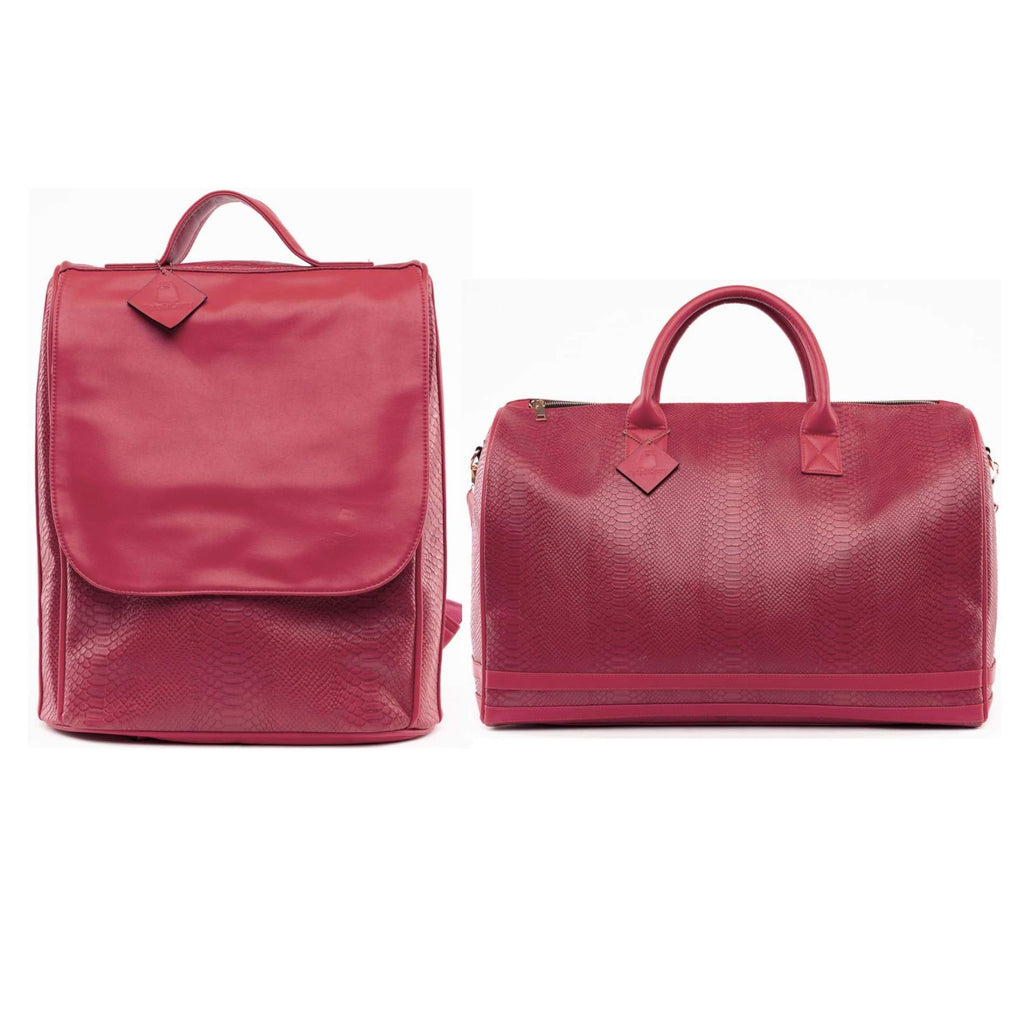 Burgundy Apollo Travel Set - XL - Travel Bag Tote&Carry