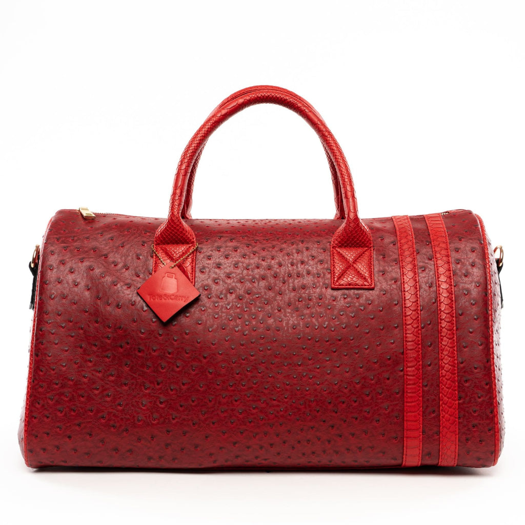 Burgundy Legacy Duffle - Reg - Weekend Bag Tote&Carry