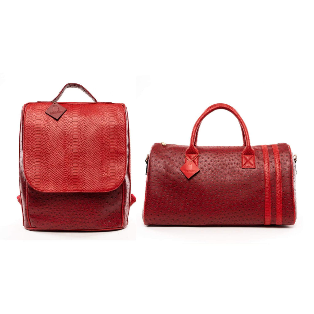 Burgundy Legacy Travel Set - Reg - Weekend Bag Tote&Carry