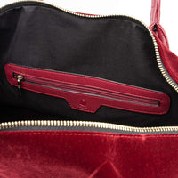 Burgundy Velour Duffle - Tote&Carry