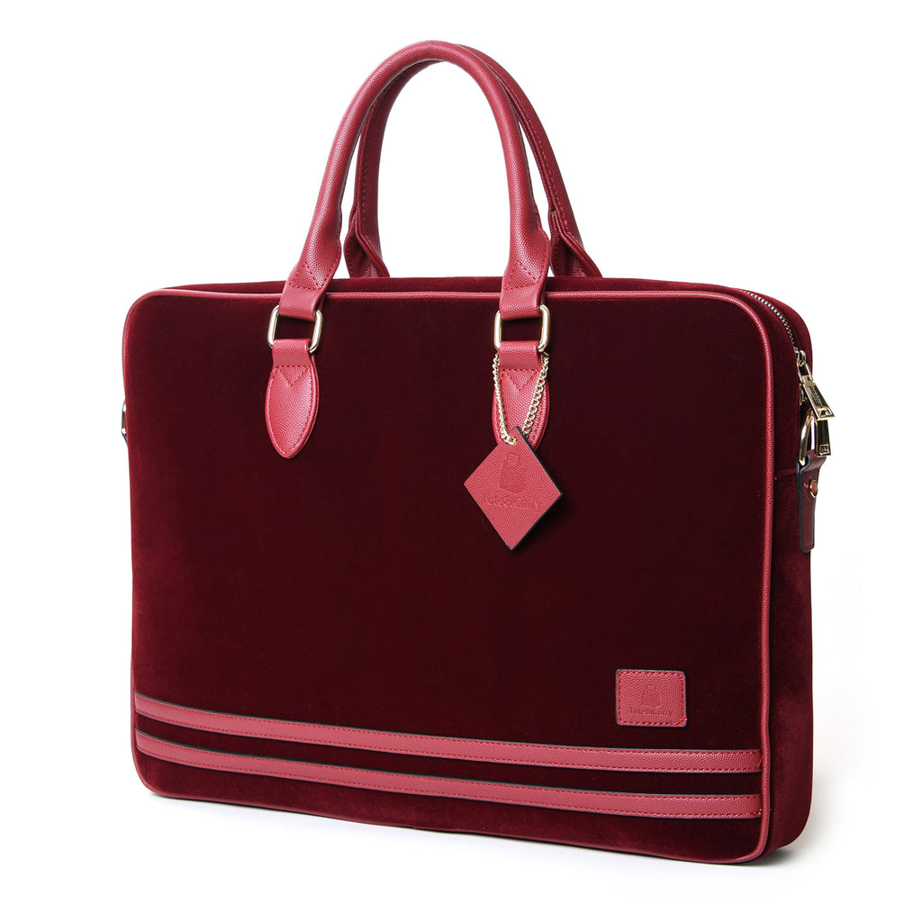Burgundy Velour Business Laptop