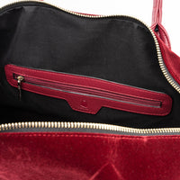Burgundy Velour Travel Set - Tote&Carry