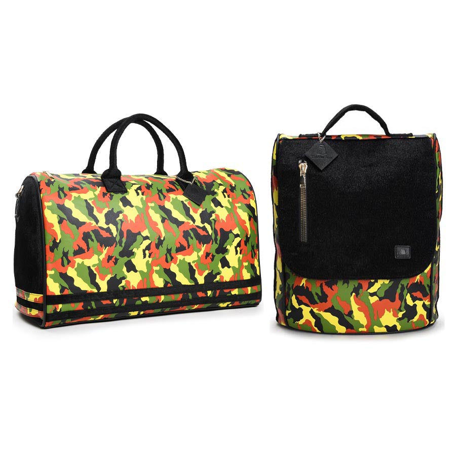 Yellow Apollo III Camo Pony Fur Travel Set