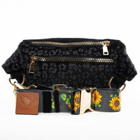 Charcoal Leopard Fanny Pack - Tote&Carry