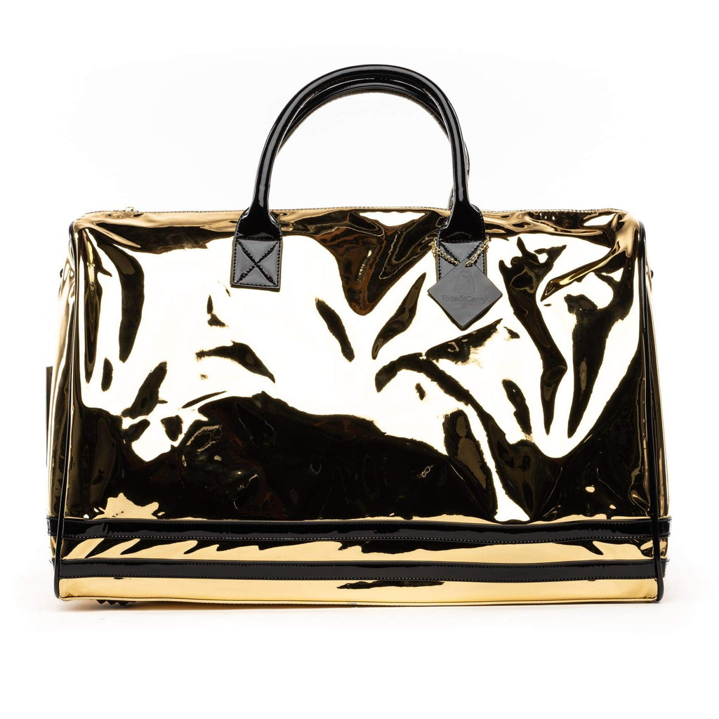 Gold Patent Apollo II Duffle