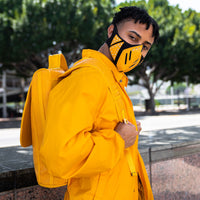 Mustard Studded V. Face Mask - Tote&Carry
