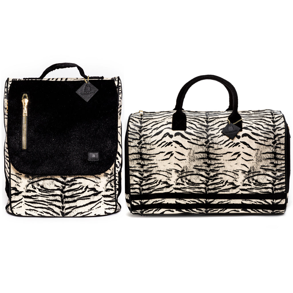 Off White Apollo III Tiger Pony Fur Travel Set