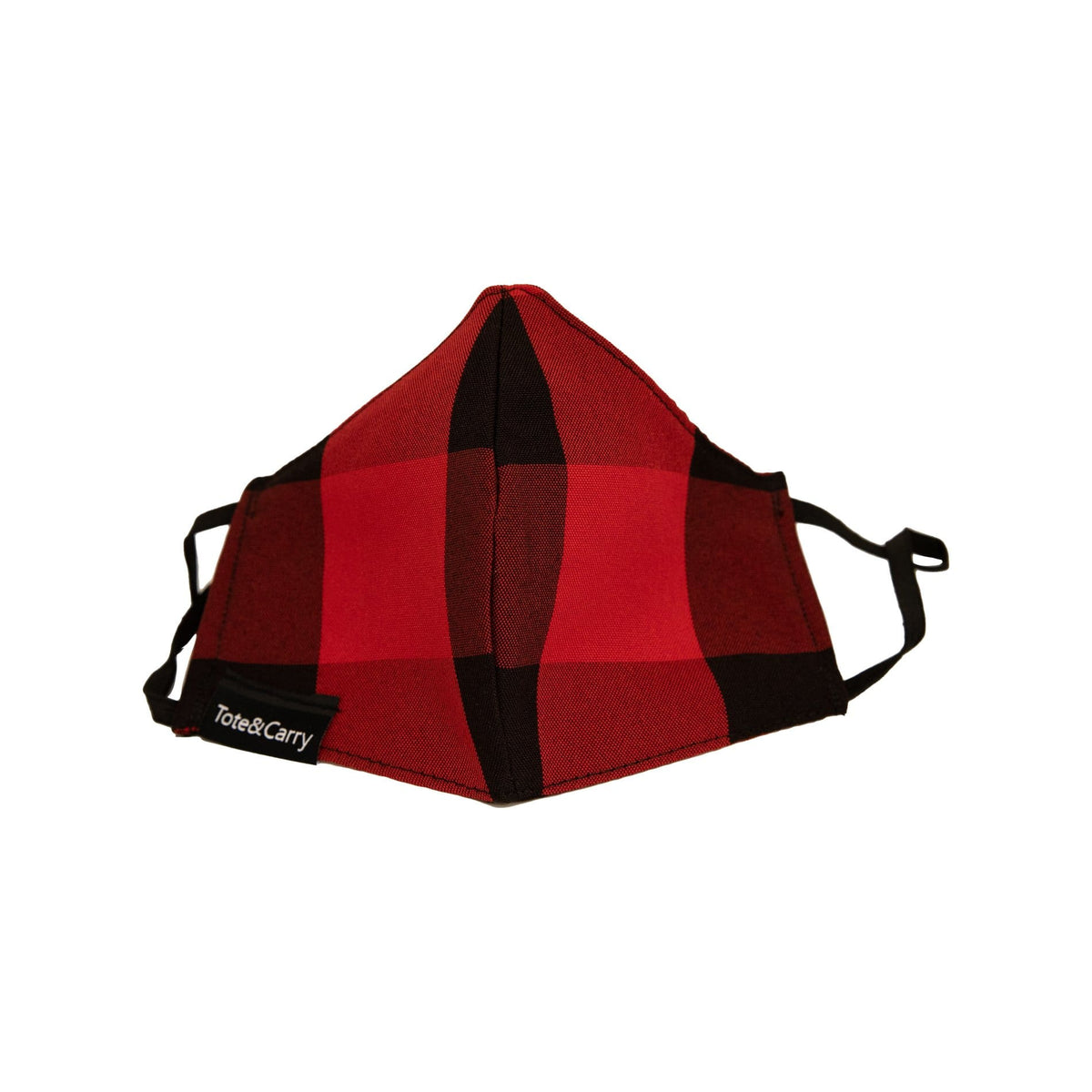 Red Plaid Face Mask - Tote&Carry