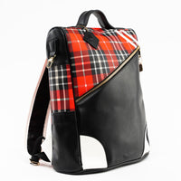Red Plaid Fridge Backpack - Tote&Carry