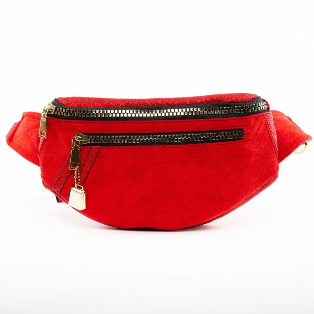 Red Suede Fanny Pack - Tote&Carry