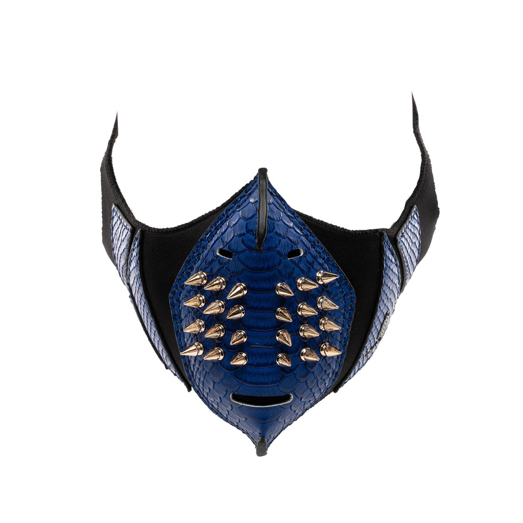 Royal Blue Gold Studded Face Mask - Tote&Carry