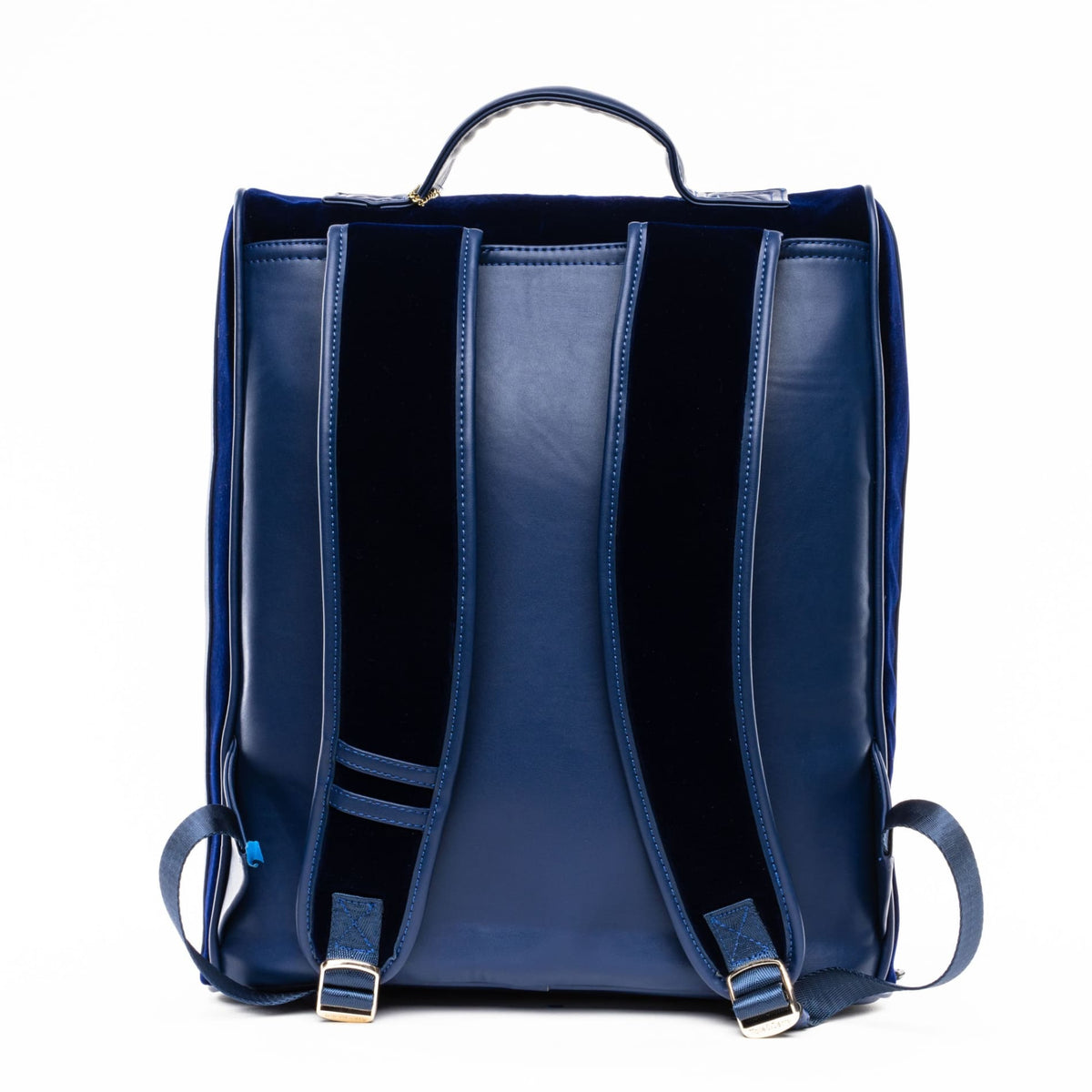 Royal Blue Velour Backpack - Tote&Carry