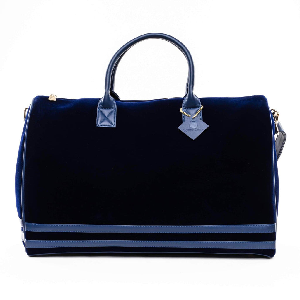 Royal Blue Velour Duffle - Tote&Carry