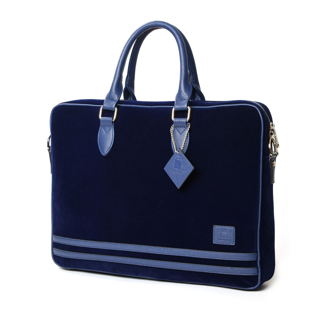 Royal Blue Velour Business Laptop