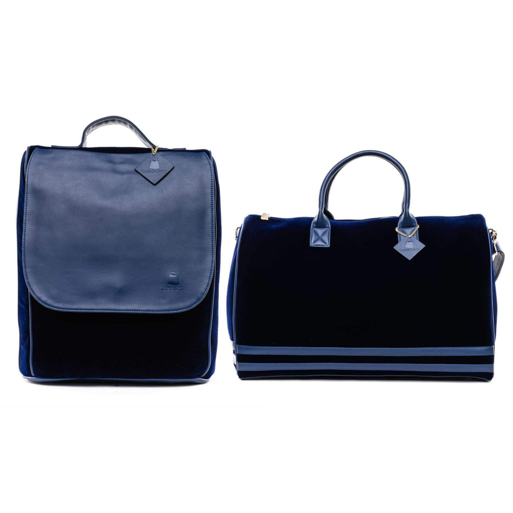 Royal Blue Velour Travel Set - XL - Travel Bag Tote&Carry