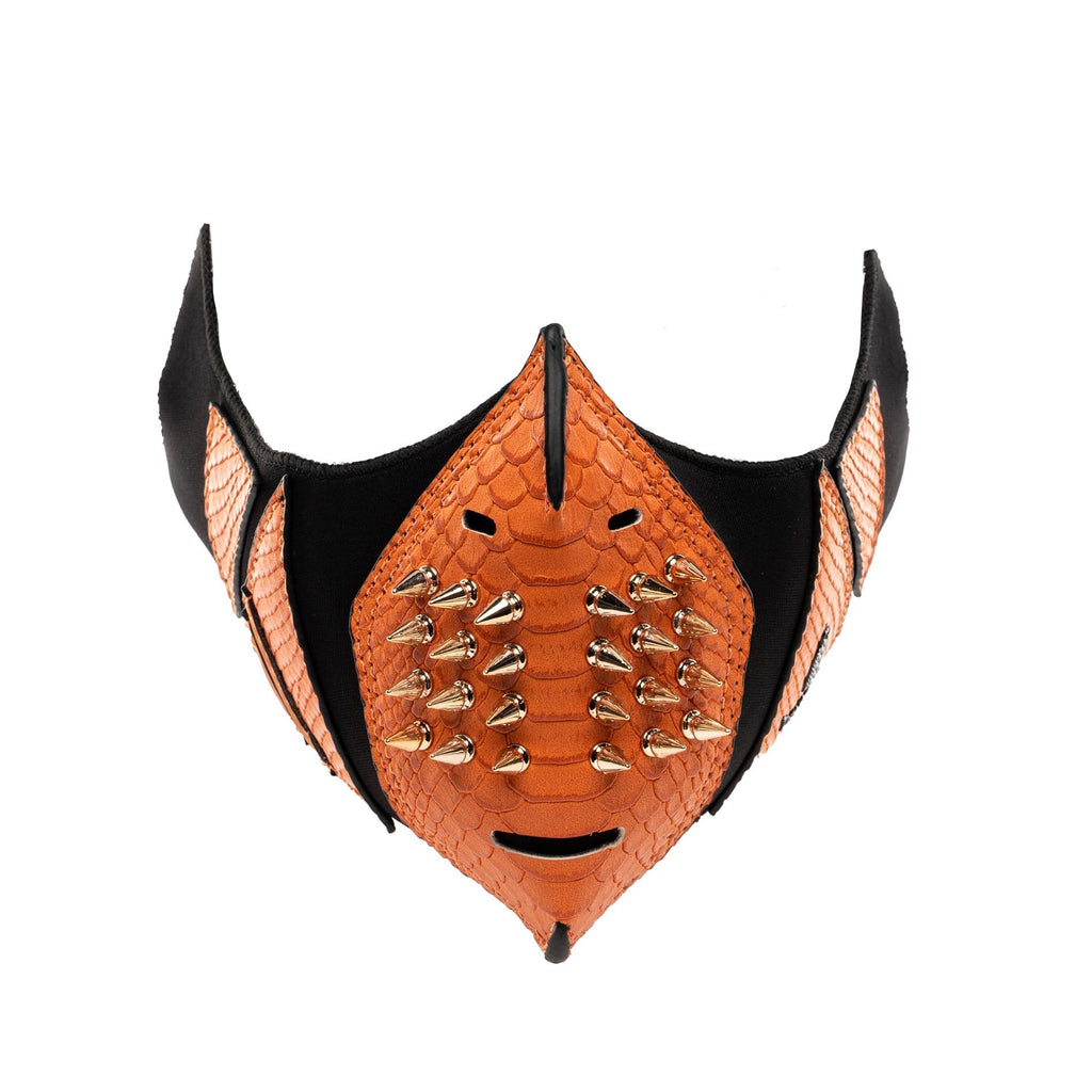 Tangerine Gold Studded Face Mask - Tote&Carry