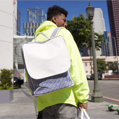 White Carrara Backpack - Tote&Carry