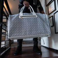 White Carrara Duffle - Tote&Carry