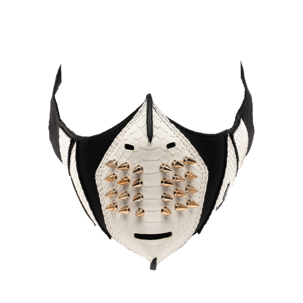 White Gold Studded Face Mask - Tote&Carry