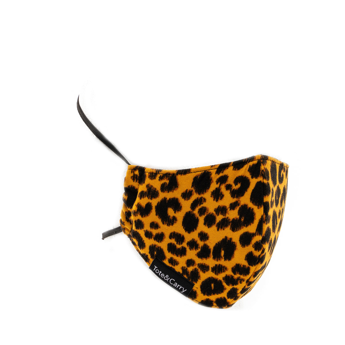 Yellow Cheetah Face Mask - Tote&Carry