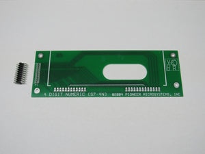 Bare board for attaching 4 digit glass display