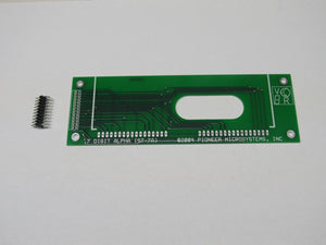 bare board for attaching 7 digit alphanumeric glass display