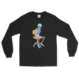 Thinking Skeleton - Long Sleeve Shirt