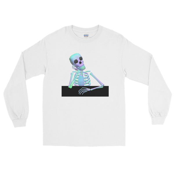 Waiting Skeleton - Long Sleeve Shirt