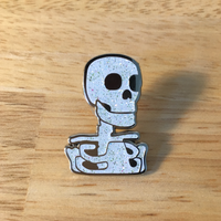 Skeleton Pin (Glitter)