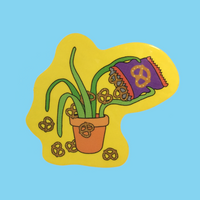 Plants Doing Things sticker sheet