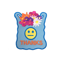 Thanks Bag Flowers patch
