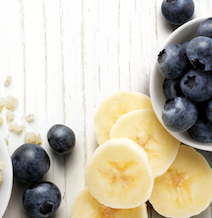 blueberries and banana