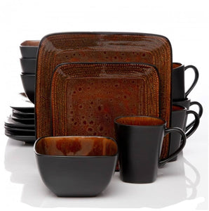 Atlas Textured Brown And Black 16-piece Dinnerware Set (Service For 4)  sc 1 st  Toscano Home Decor & Atlas Textured Brown And Black 16-piece Dinnerware Set (Service For ...