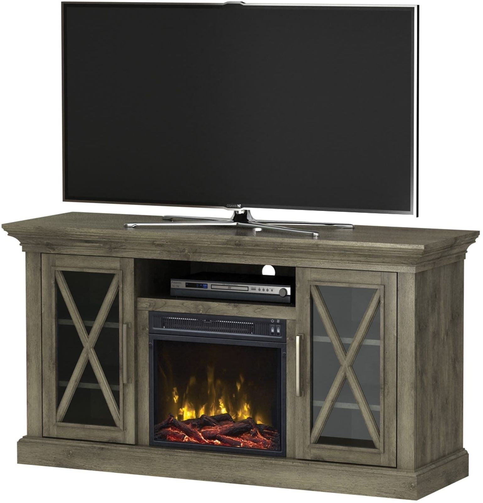 interesting electric home dact inch ideas fireplace depot us tv with stand