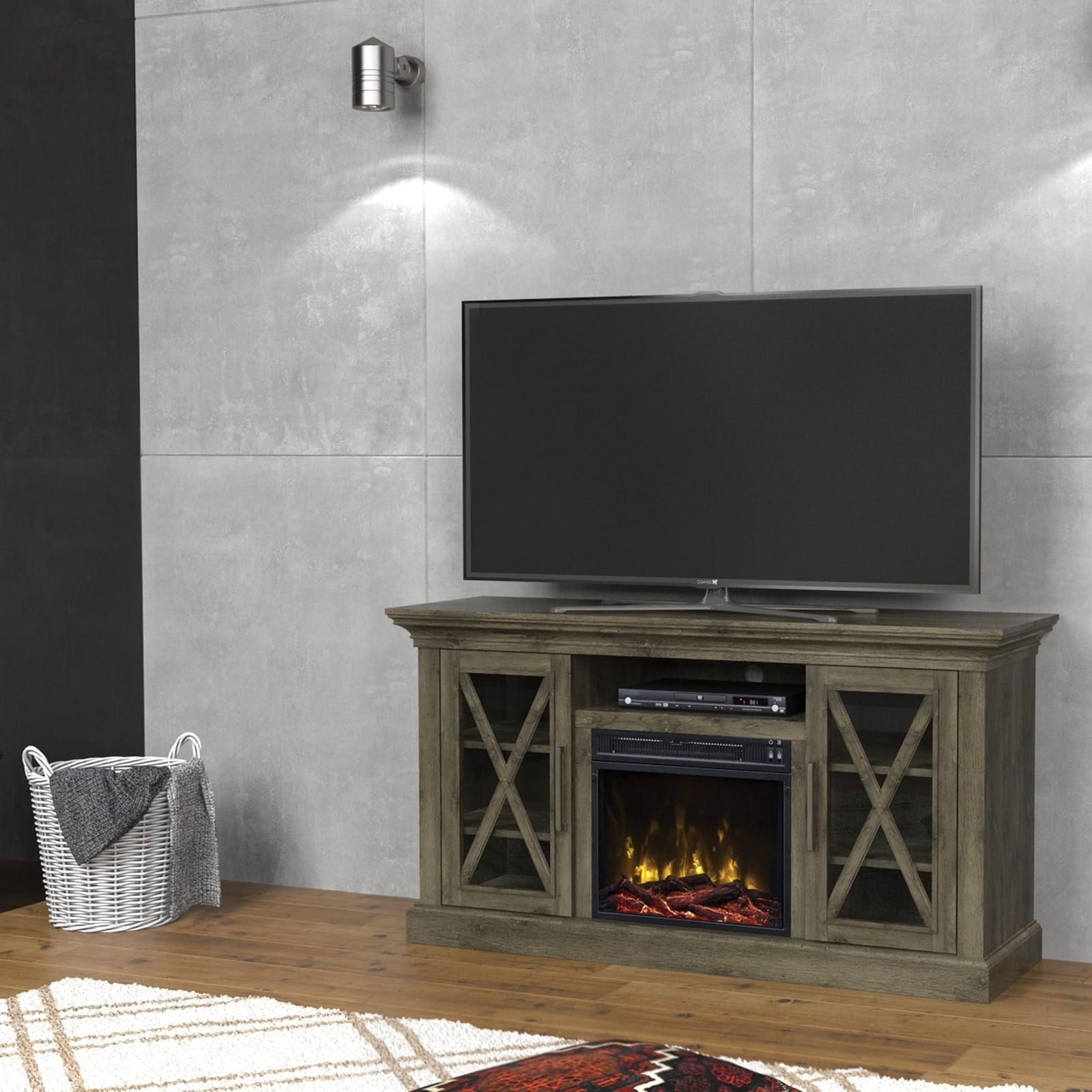 in recessed color heater fireplace ventless inch p astoria wall multi electric mounted built