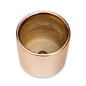 Copper, Rose Gold Succulent Plant Pot - 4 Inch Pot Can Hold Large & Small Succulents, Cactus and Flowers - Cylindrical Modern Design - Rose Gold and Copper for In-Style Look