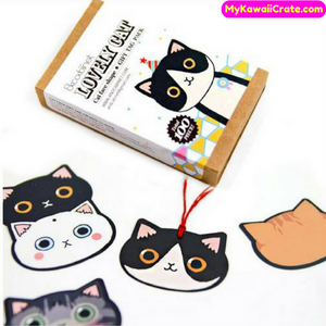 100 Pcs Set Lovely Cat Gift Tag Pack / Bookmarks / Kawaii Cute Cat Mini Cards