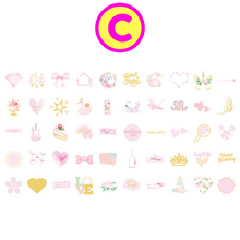 100 Pc Pack Happy Day Gilding Washi Stickers