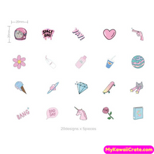 100 Pc Strange Planet Holographic Stickers in Organza Bag
