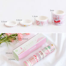 Washi Tape Sizes