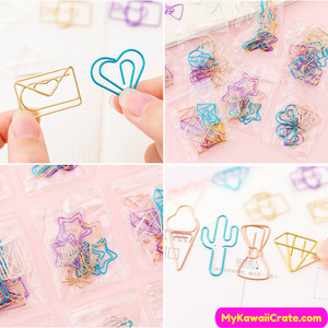 Heart Diamond Paper Clips