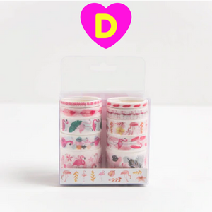 10 Pc Set Kawaii Lovely Designs Decorative Washi Tapes
