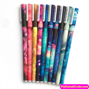 10 Pc Set Starry Sky Multicolor Gel Pens