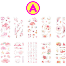 10 Sheets Set Summer Girl Musical Retro Ambiance Stickers