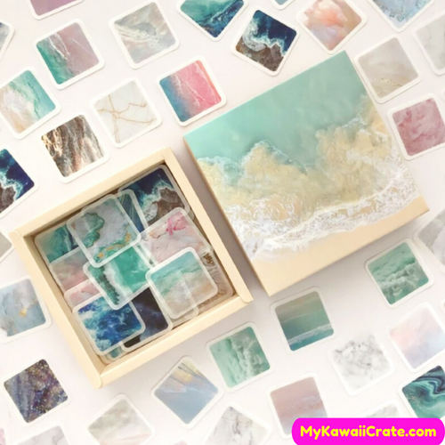 200 Pc Pack Magnificent Ocean Scenery Stickers