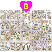 Kawaii Happy Day Sweet Girl Boy Stickers