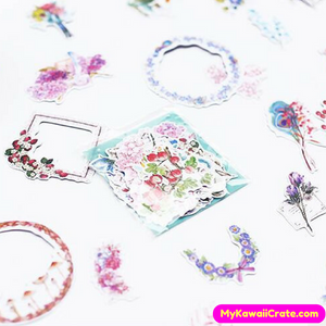 20 Pc Pk Colorful Flowers & Wreath Stickers