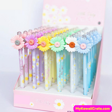 2 Pc Set Pretty Daisy Flower Gel Pens