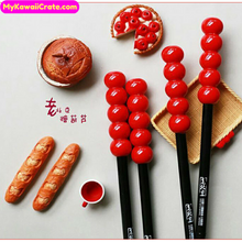 2 Pc Chinese Peking Candied Fruit Tanghulu Gel Pens
